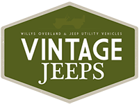 Image With Text 'Vintage Jeeps: Willys Overland & Jeep Utility Vehicles'